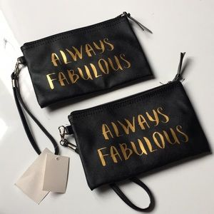 Always Fabulous Pouch Make Up Bag Wallet Clutch